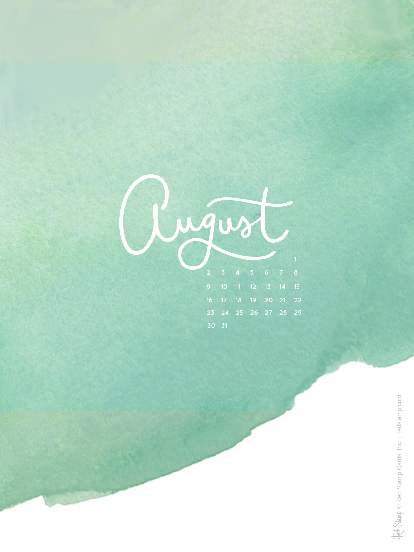 August 2015 Calendars and Wallpaper 2250x3000