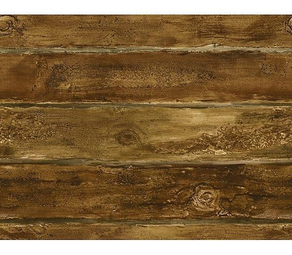 Interior Place   Walnut Faux Log Cabin Wallpaper 2340 httpwww 600x525
