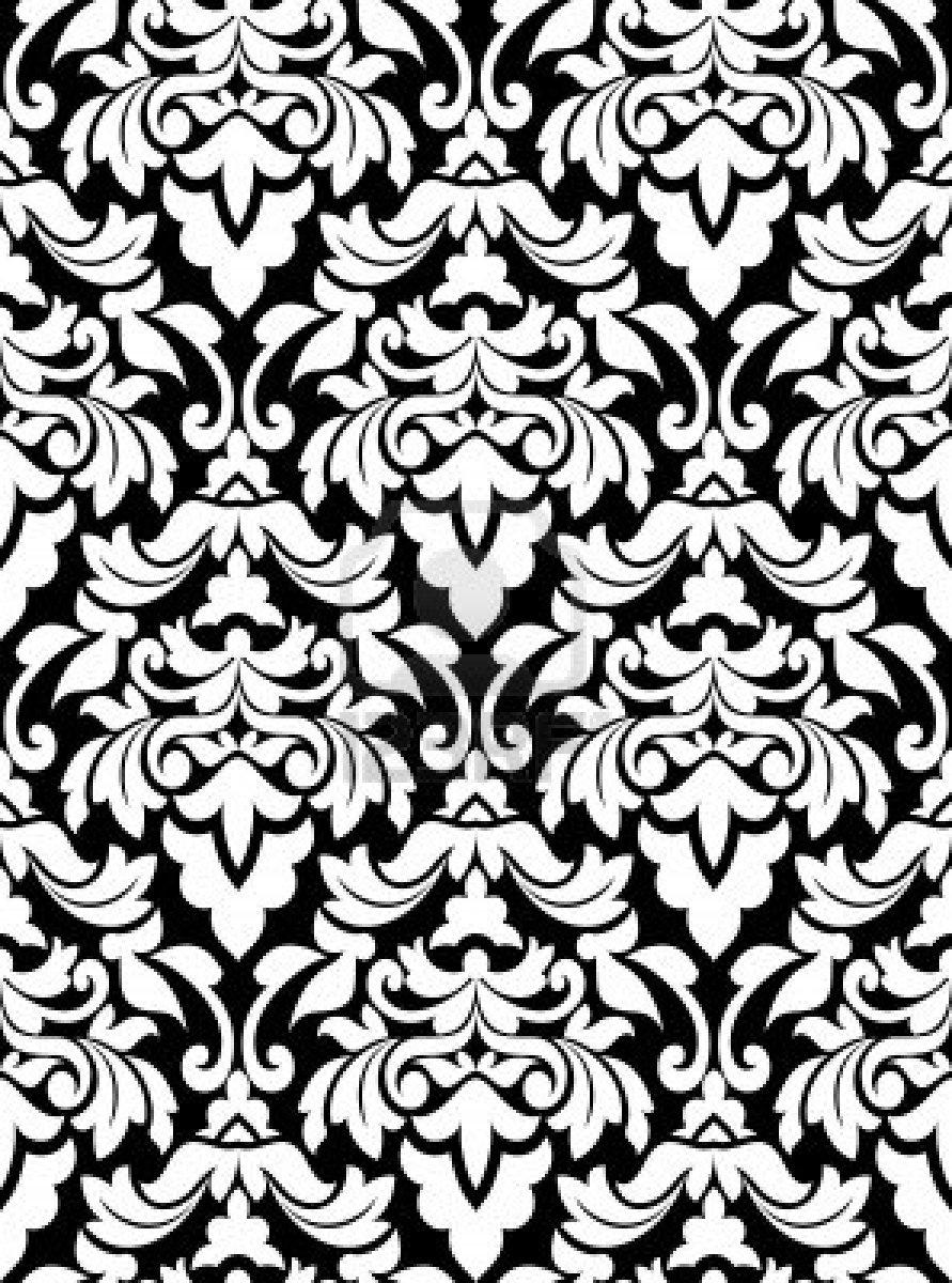 Black And White Damask 891x1200