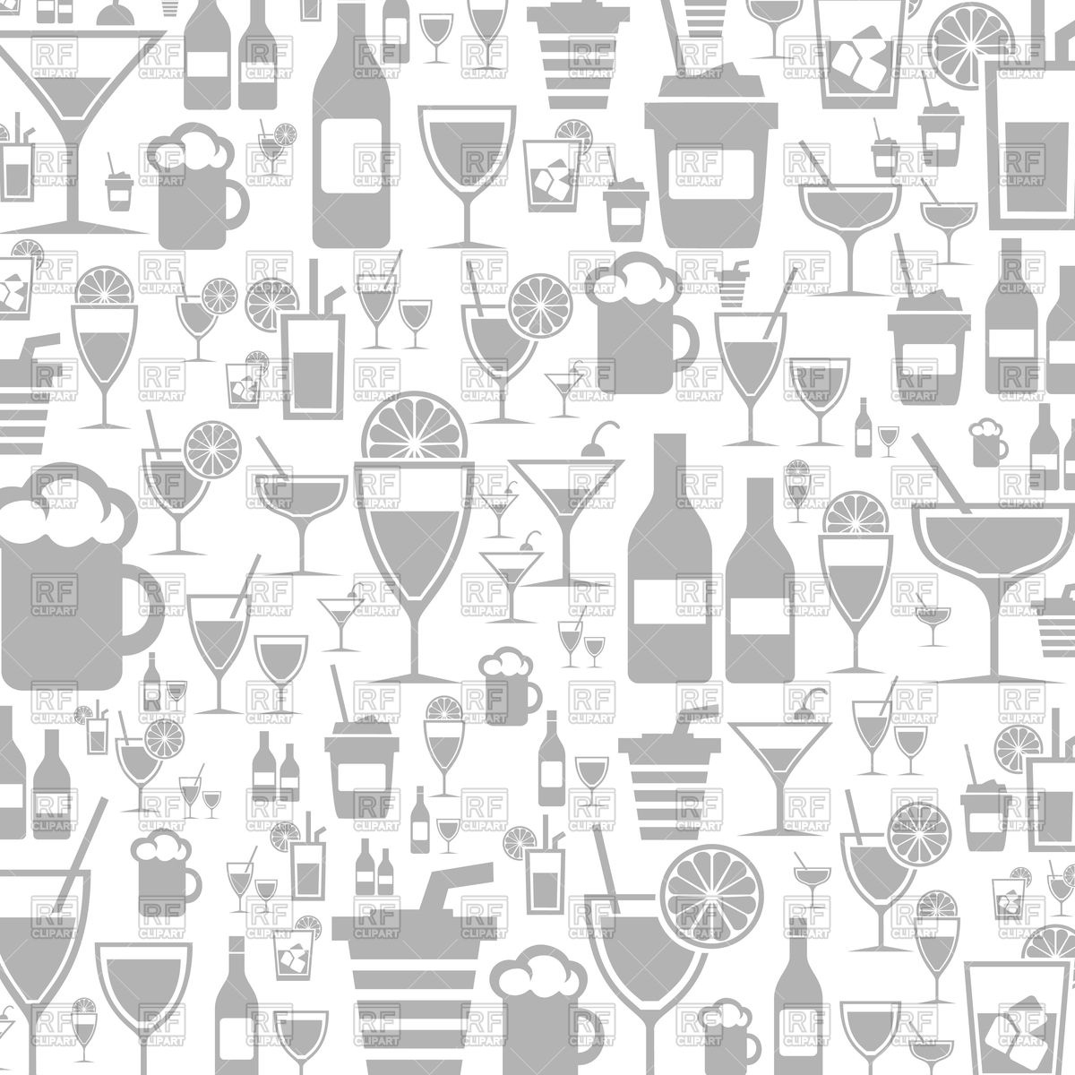 Background made of alcohol icons Vector Image of Backgrounds 1200x1200