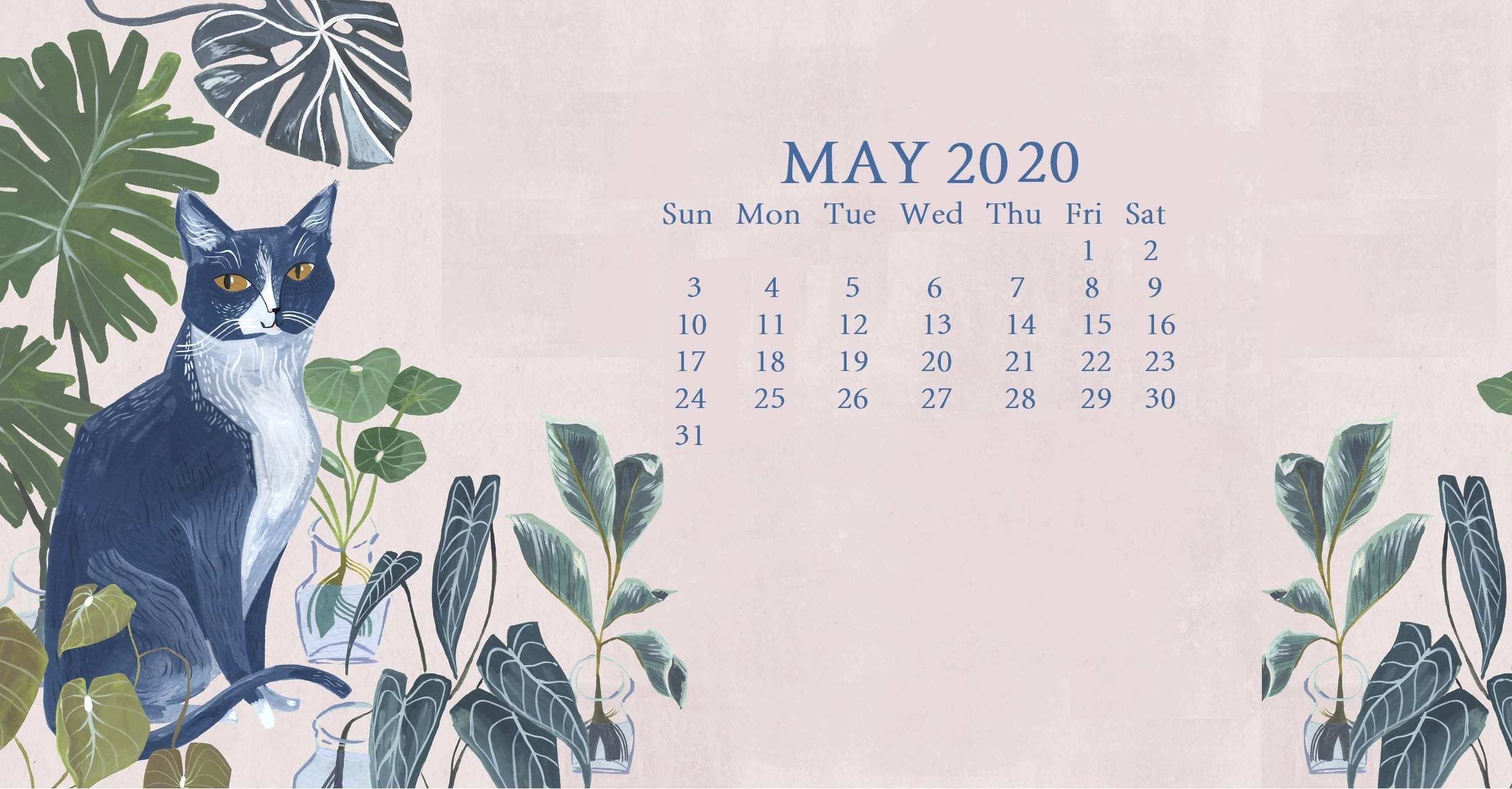 download Cute 2020 Desktop Calendar Wallpaper Latest Calendar 2454x1280