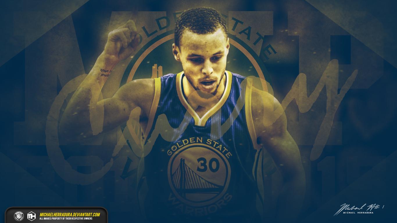 Stephen Curry MVP wallpaper by michaelherradura by deviantartcom 1366x768