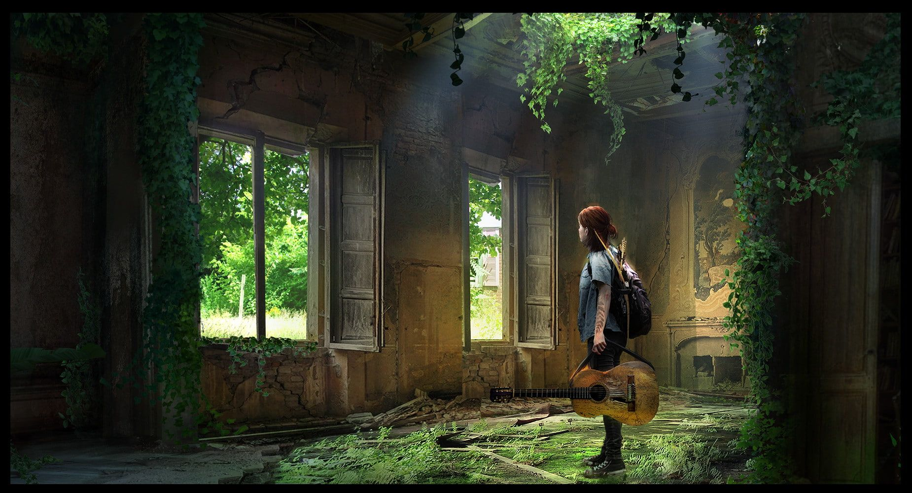 The Last of Us The Last of Us Part 2 fan art Ellie The Last of Us 1850x1000