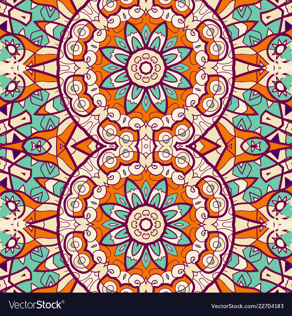 Ornamental indian bright coloured wallpaper made Vector Image 1000x1080