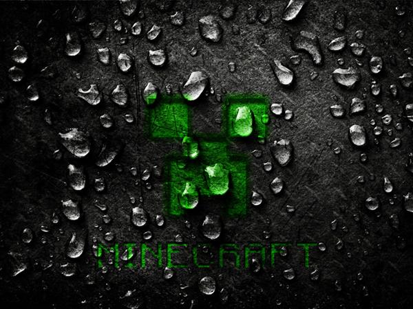 Wallpaper Minecraft 2015 Creeper E Agua EGames 600x450
