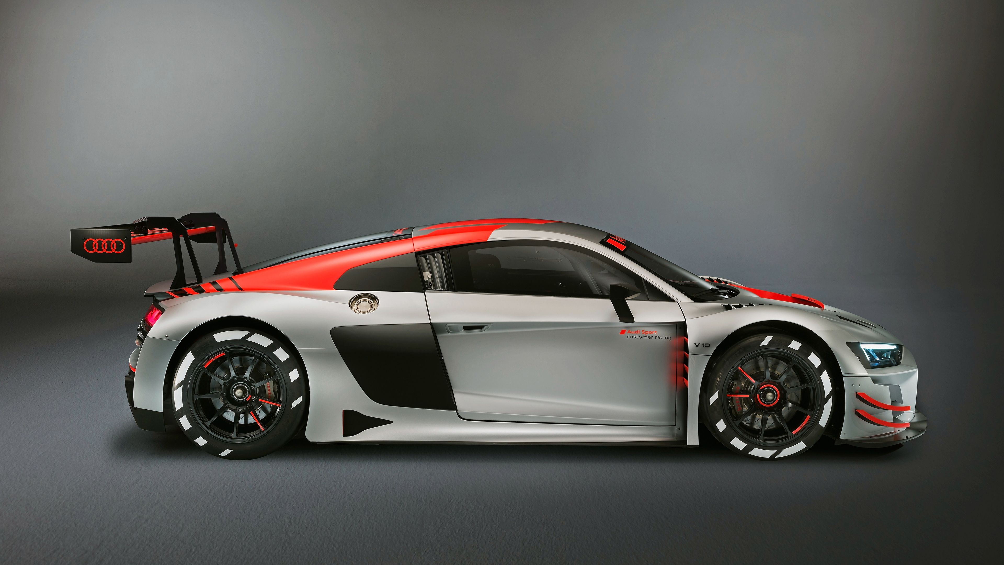 2019 Audi R8 LMS Side View 4k hd wallpapers cars wallpapers audi 3840x2160