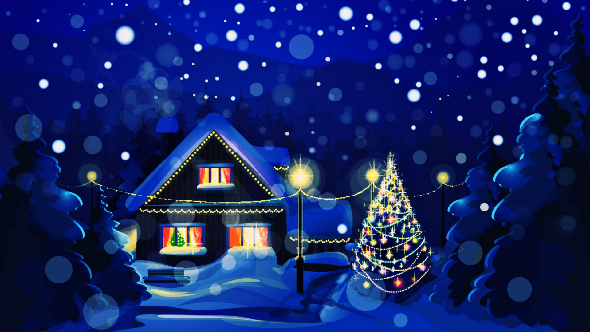 Christmas Winter 1080p Hd Wallpaper Wallpapers 1920x1080
