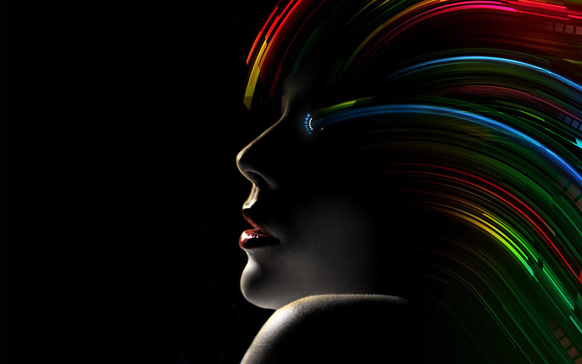 techno rainbow background - photo #26