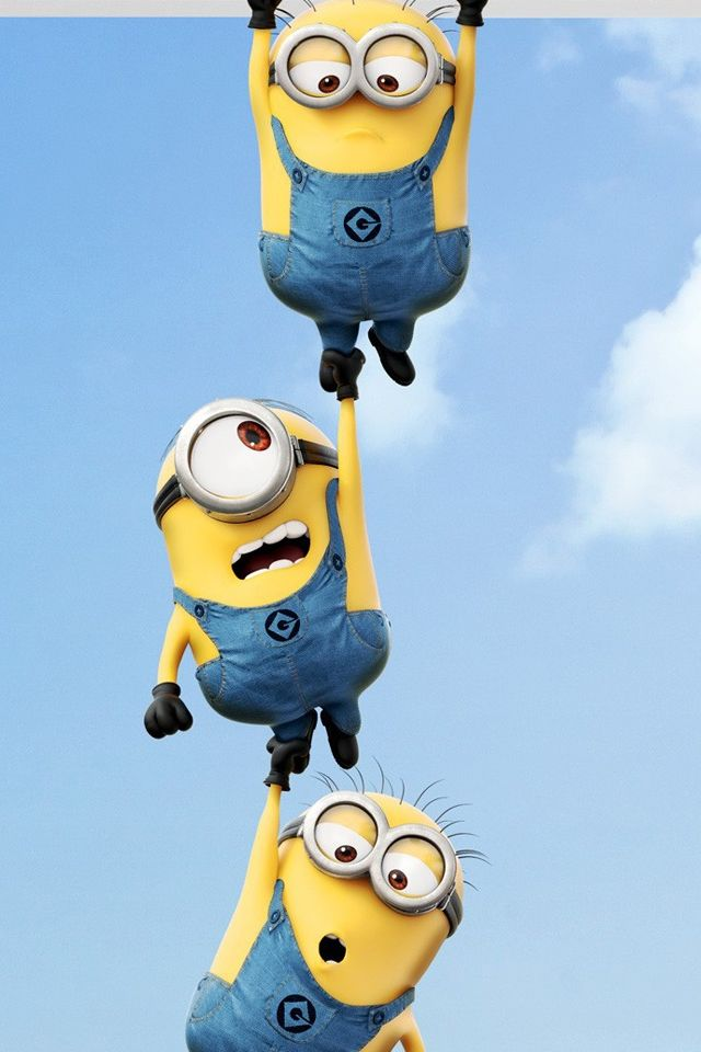 2013 Despicable Me 2 Minions iPhone Wallpaper Download iPhone 640x960