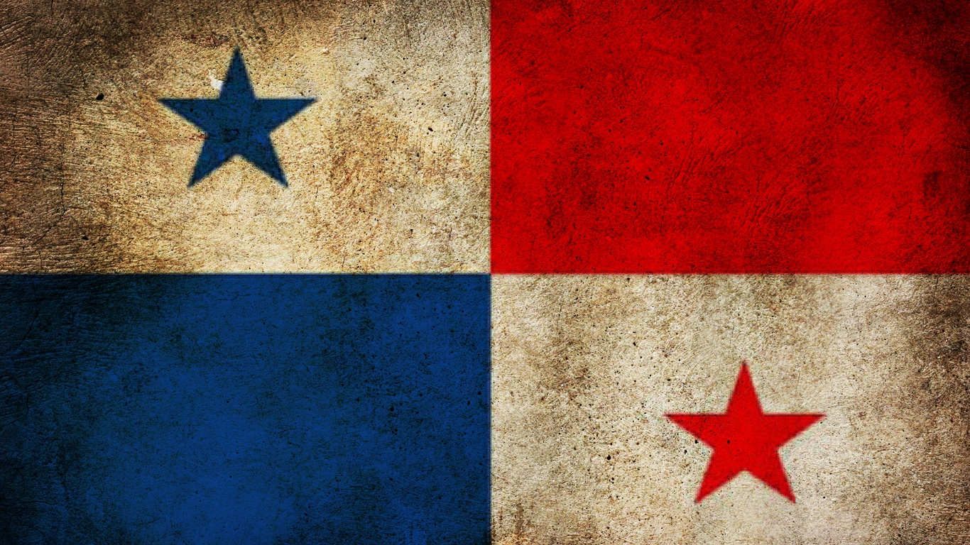 Download wallpaper 1366x768 panama flag mud texture tablet 1366x768