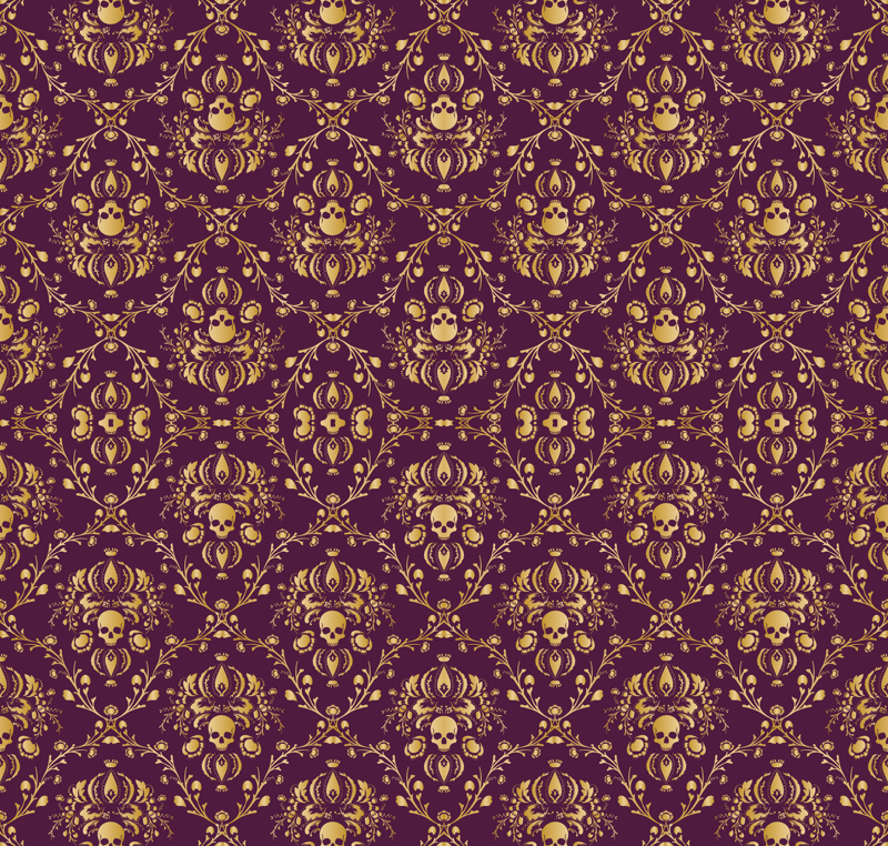 Purple And Gold Wallpaper Purple and gold damask 800x762