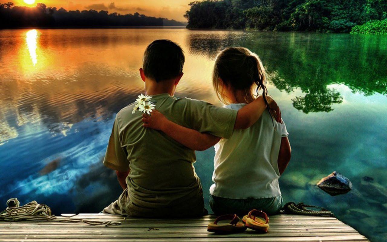 Cute Kid Couple In Love HD Wallpaper Cute Little Babies 1280x800