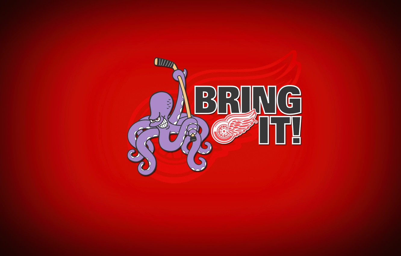 Wallpaper The game Sport Background Octopus Detroit NHL NHL 1332x850