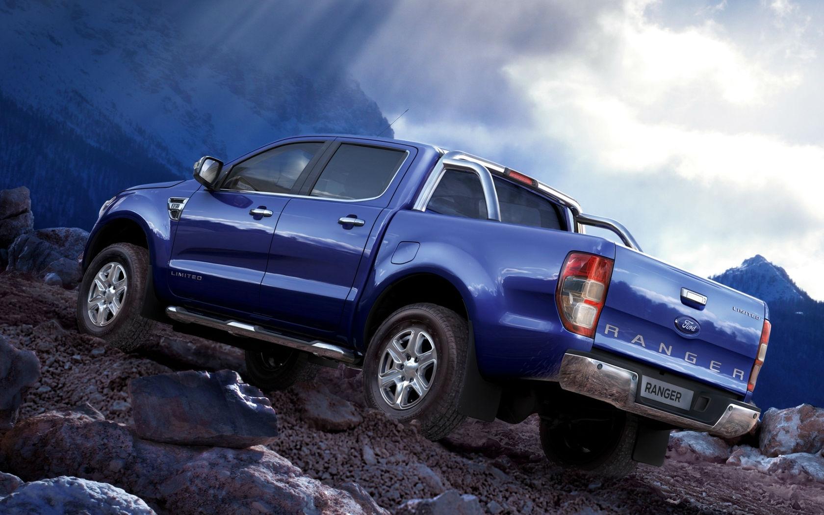Blue Ford Ranger Truck Wallpaper   HD 1680x1050