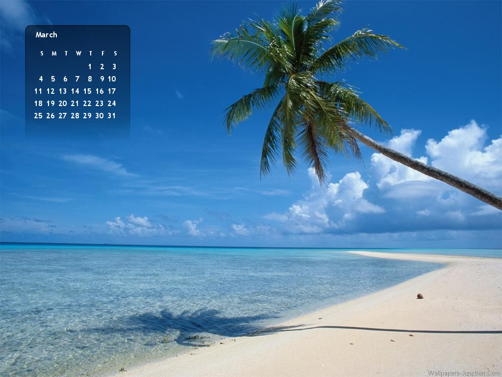 2012 March Month Calendar Wallpapers 1024x768