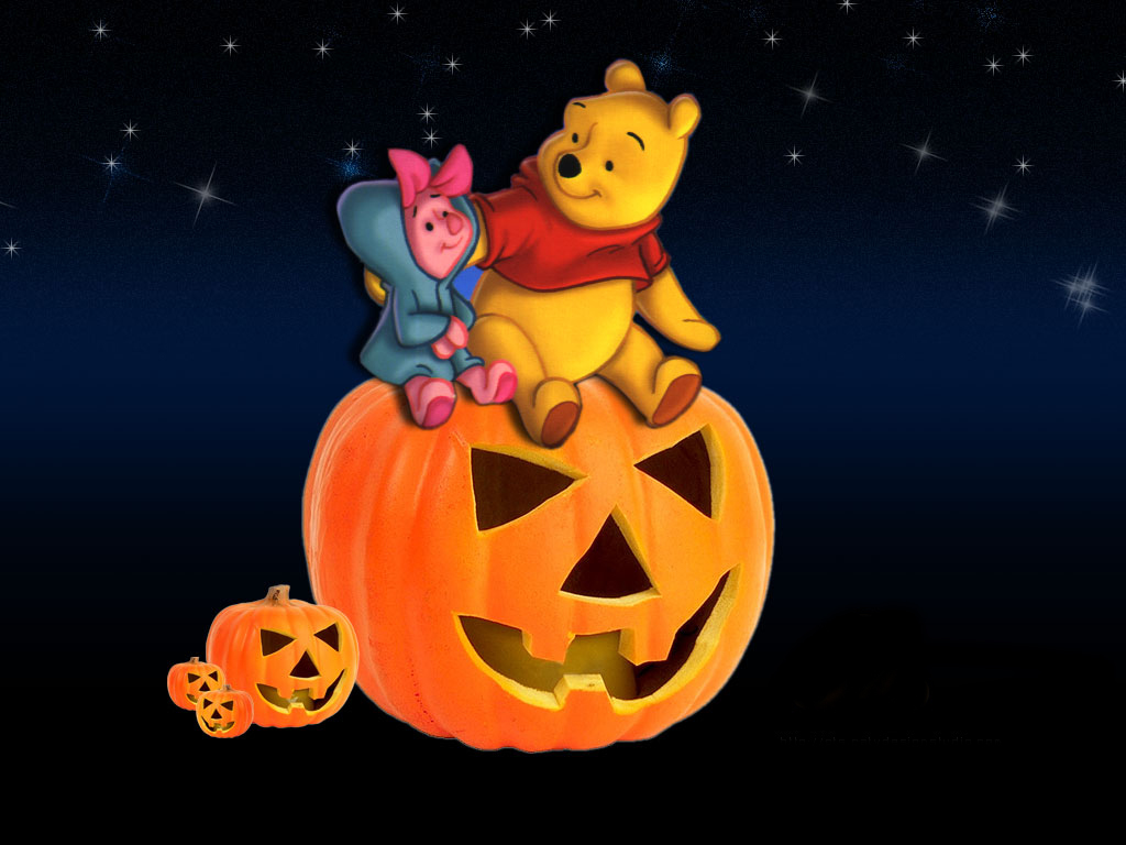Group Of Winnie The Pooh Halloween Wallpaper Backgrounds