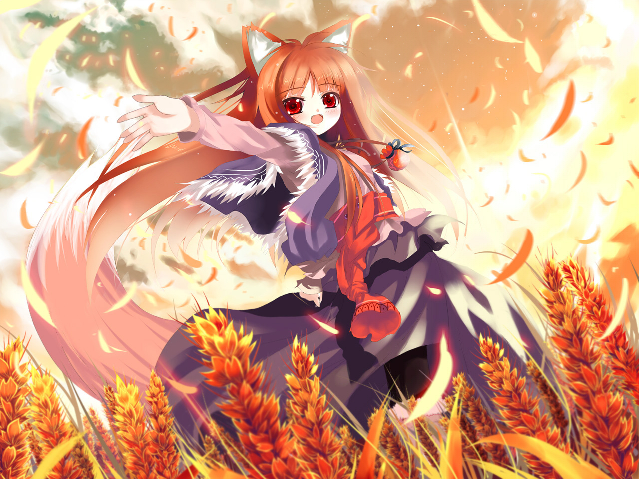 Free Download Anime Spice And Wolf Horo Wallpaper 1280x960 Full Hd