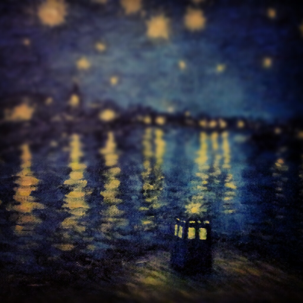 Tardis Painting Van Gogh Wallpaper Doctor who tumblr theme for 1024x1024