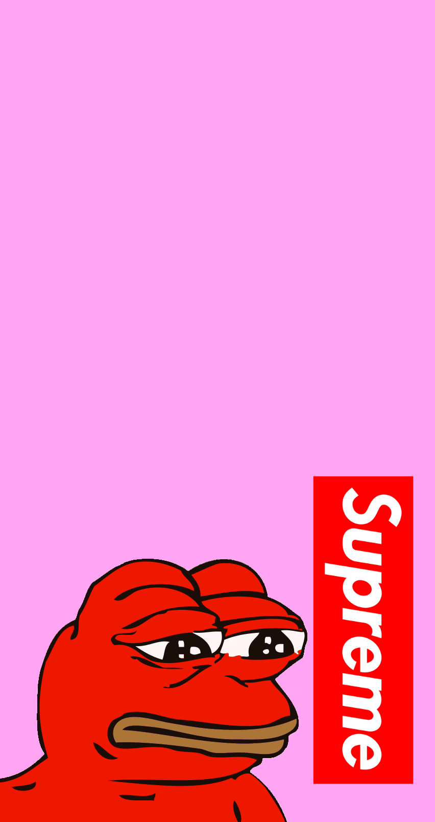 Supreme Pepe4iPhone wallpapers Hypebeast wallpaper Supreme 852x1608