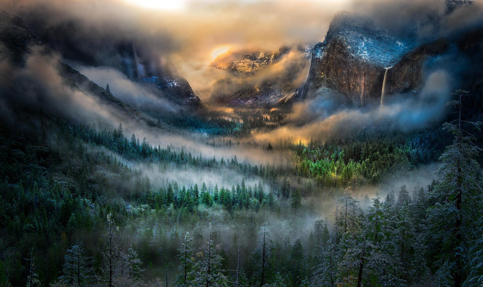 Yosemite National Park Clouds 23202 Wallpaper Wallpaper hd 2048x1218