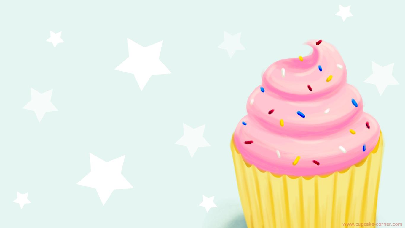Cartoon Cupcake Wallpaper HD wallpaper background 1366x768