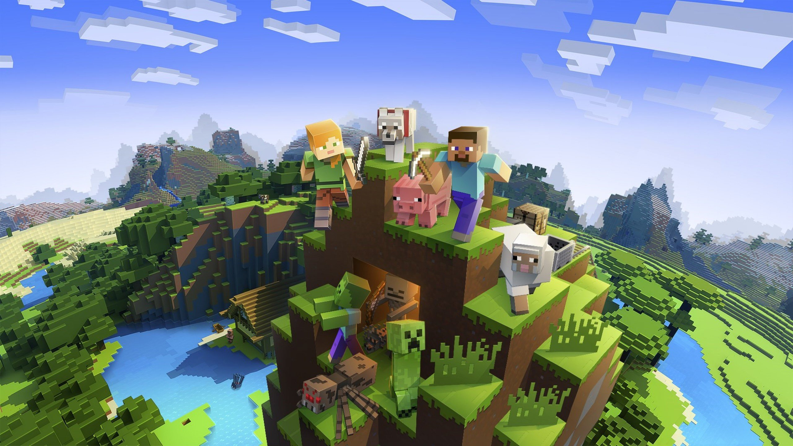 Free Download Minecraft Wallpaper Webgameappcom 2560x1440 For