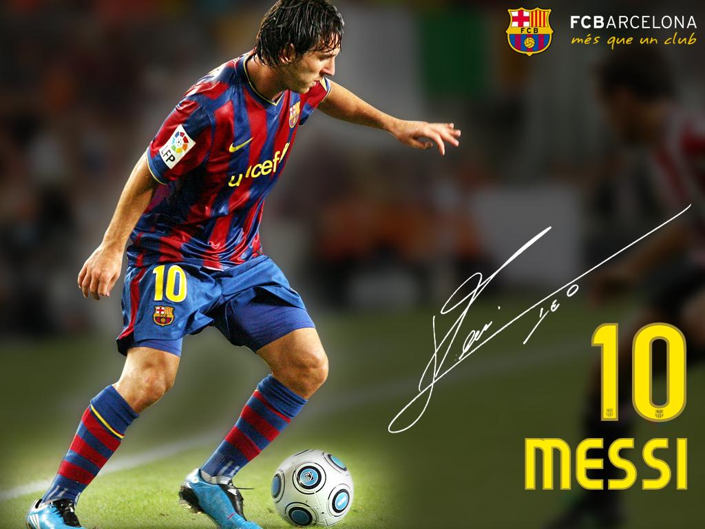 Wallpaper Lionel Messi   Foto Messi Barcelona 1024x768