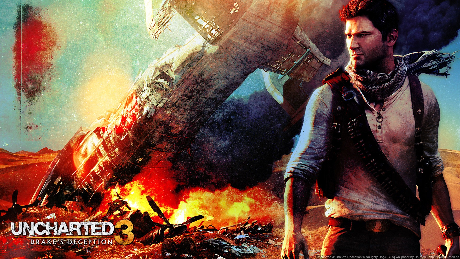 Uncharted 3 Wallpapers HD - WallpaperSafari Uncharted 3 Drakes Deception Wallpaper