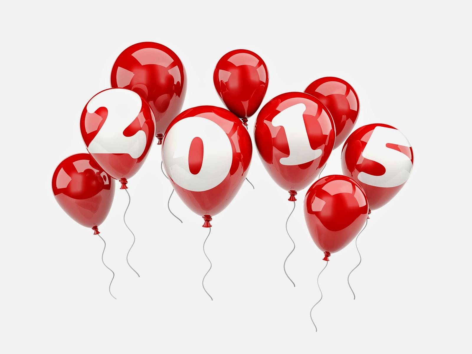 Red Balloon Happy New Year 2015 Wallpaper For Desktop 488289 1600x1200