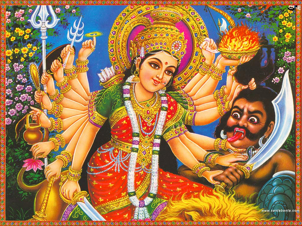 Wallpapers hd hindu goddess durga wallpapers hd hindu goddess durga 1024x768