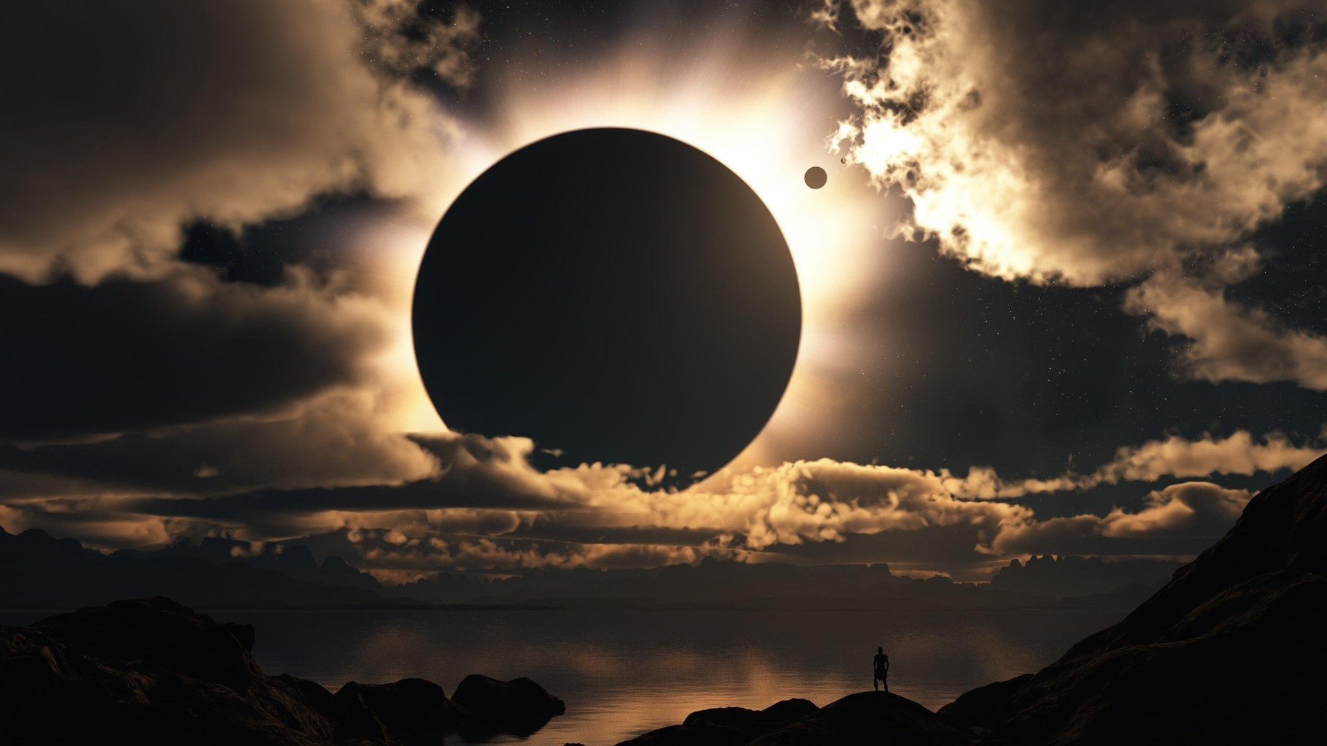 Sky Eclipse HD Wallpaper Background Images 1920x1080