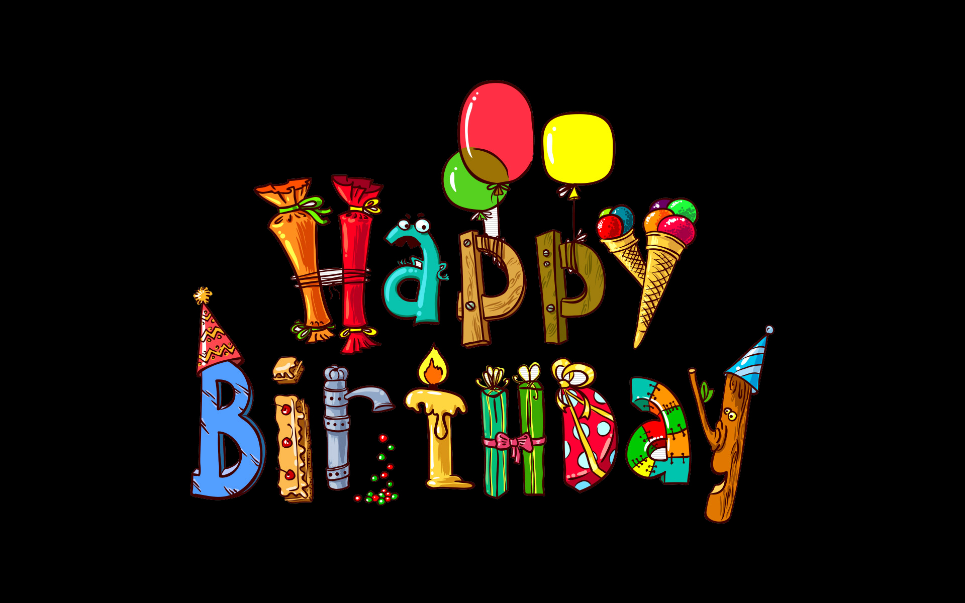 Pics Photos   Funny Birthday Wallpapers 1920x1200