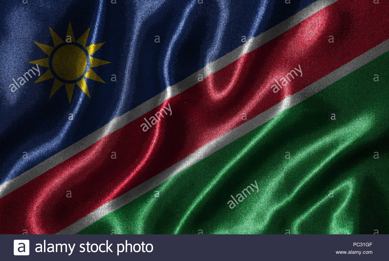 Namibia flag   Fabric flag of Namibia country Background and 1300x871