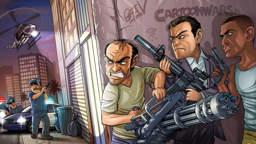 Grand Theft Auto V Wallpaper in 1920x1080 860x484