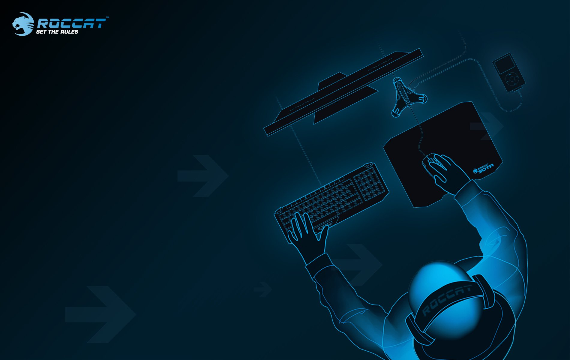 ROCCAT GAMING computer keyboard mouse wallpaper 1900x1200