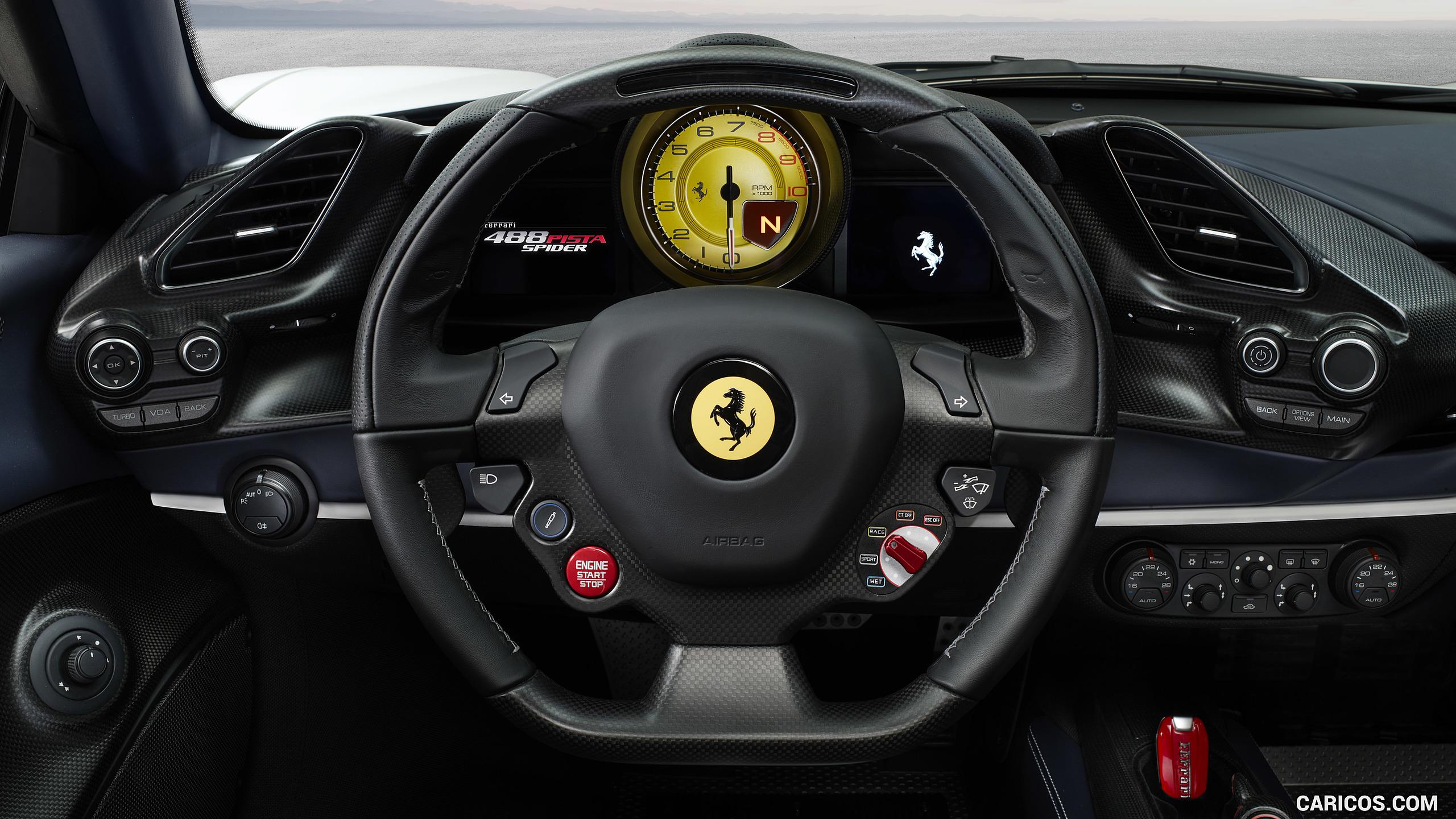 2019 Ferrari 488 Pista Spider   Interior Steering Wheel HD 2560x1440