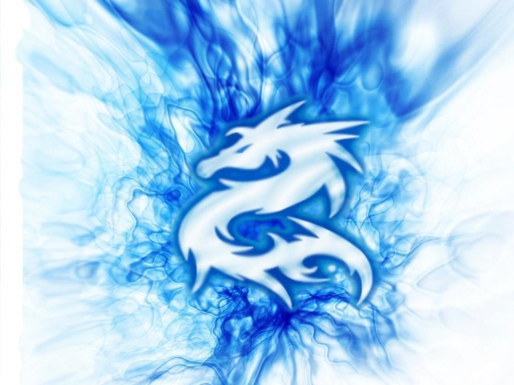 Blue Flame Dragon Wallpaper Images Pictures   Becuo 1024x768