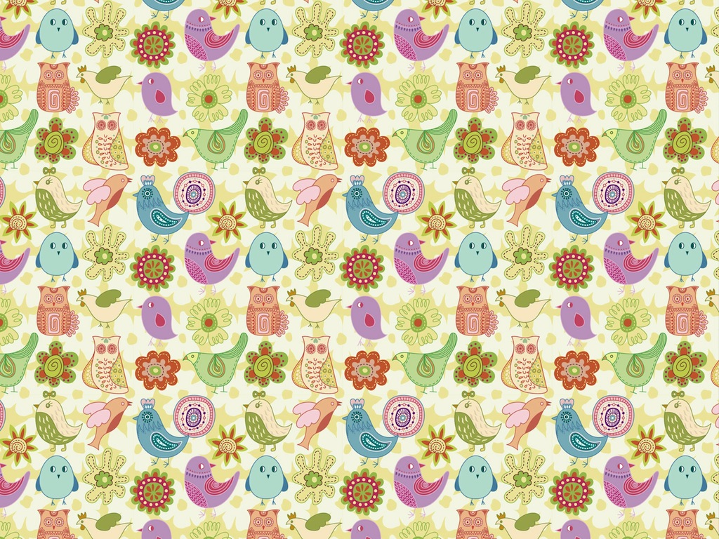 Bird Pattern 1024x768