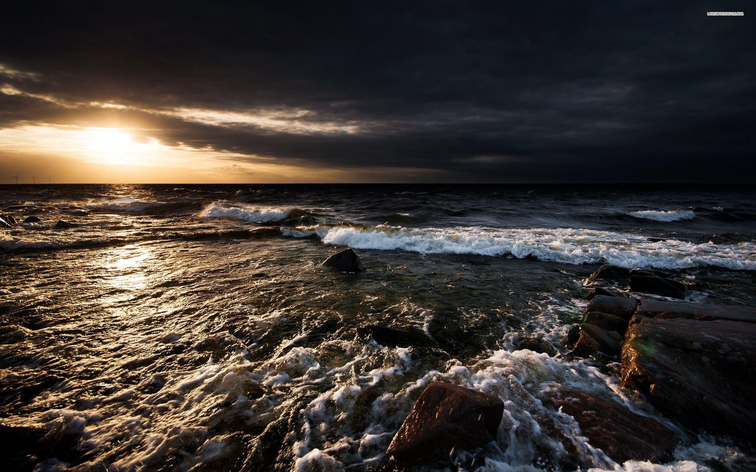 Stormy Ocean Wallpaper 37 Modern Stormy Ocean 2560x1600