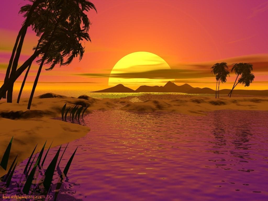 Beautiful Beach Sunset Wallpaper 9279 Hd Wallpapers in Beach 1024x768