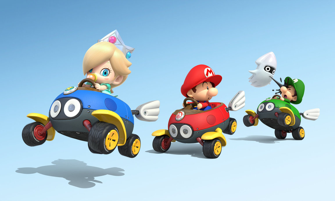 Free Download Baby Rosalina Mario And Luigi In Mario Kart 8