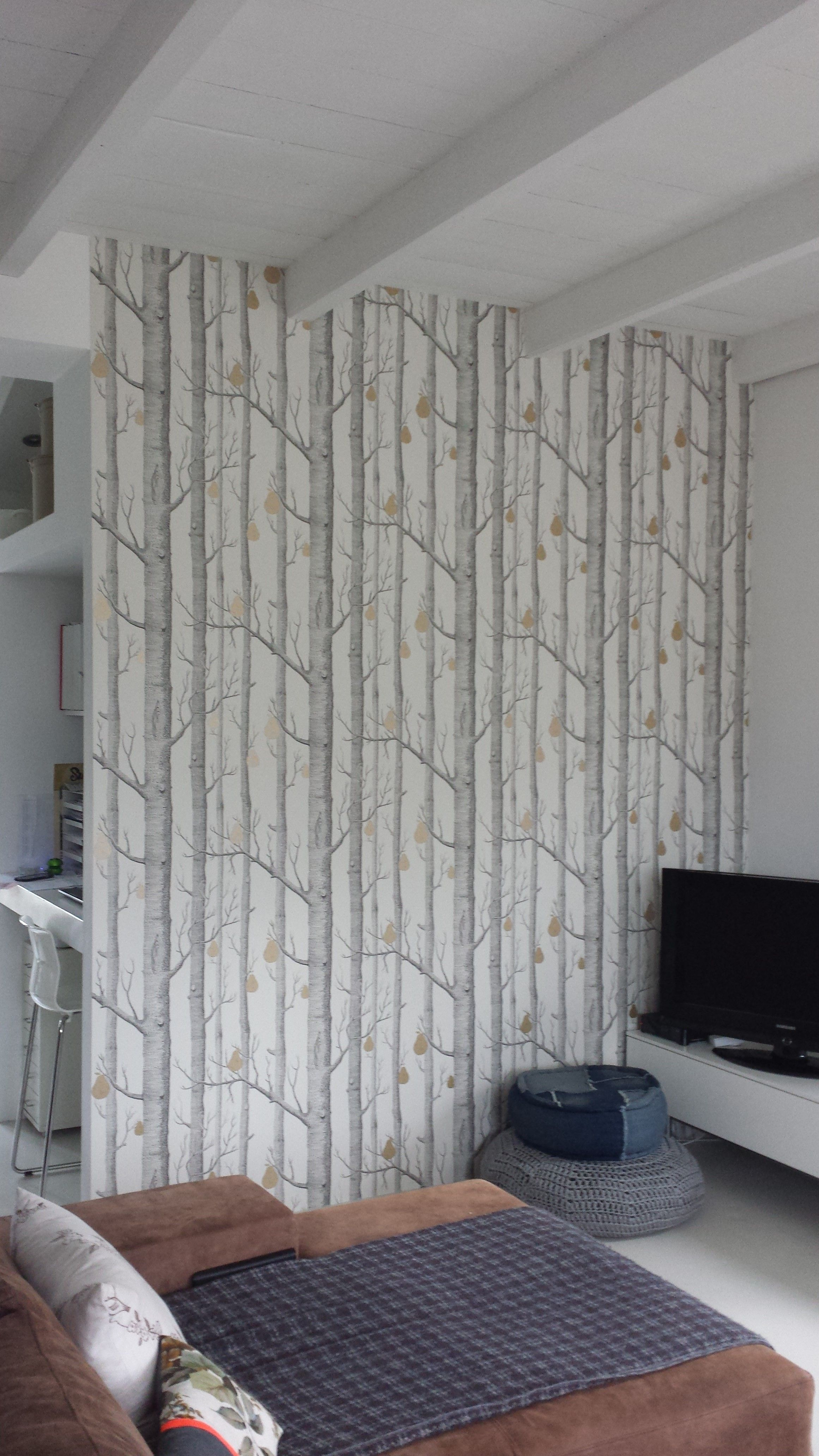 wallpaper Woods Pears from Cole Son Home makeover in 2019 2322x4128