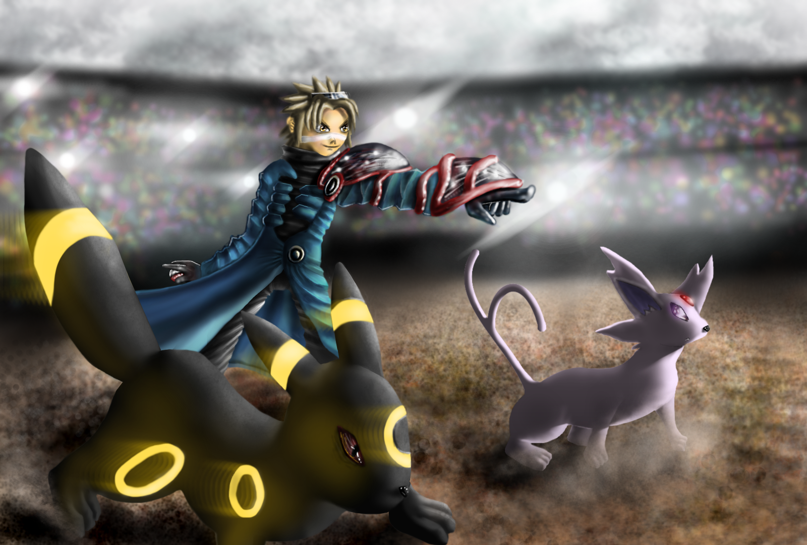 Pokemon Umbreon get back youre turn Espeon by GreenIbr on 1600x1080