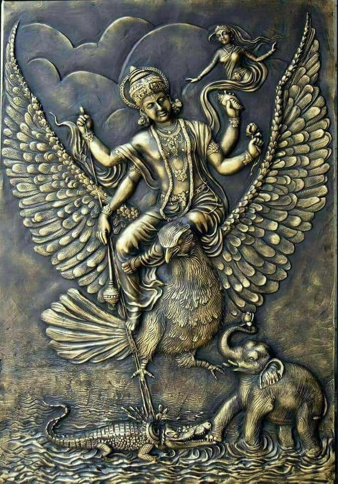 Gajendra Moksham Maha Vishnu in 2019 Lord vishnu wallpapers 671x960