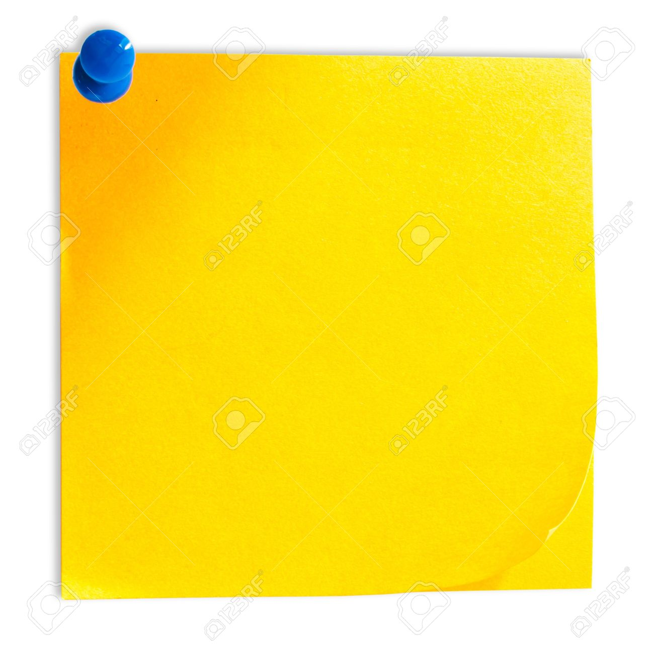 Yellow Memo Stick Isolated On White Background Stock Photo 1300x1300
