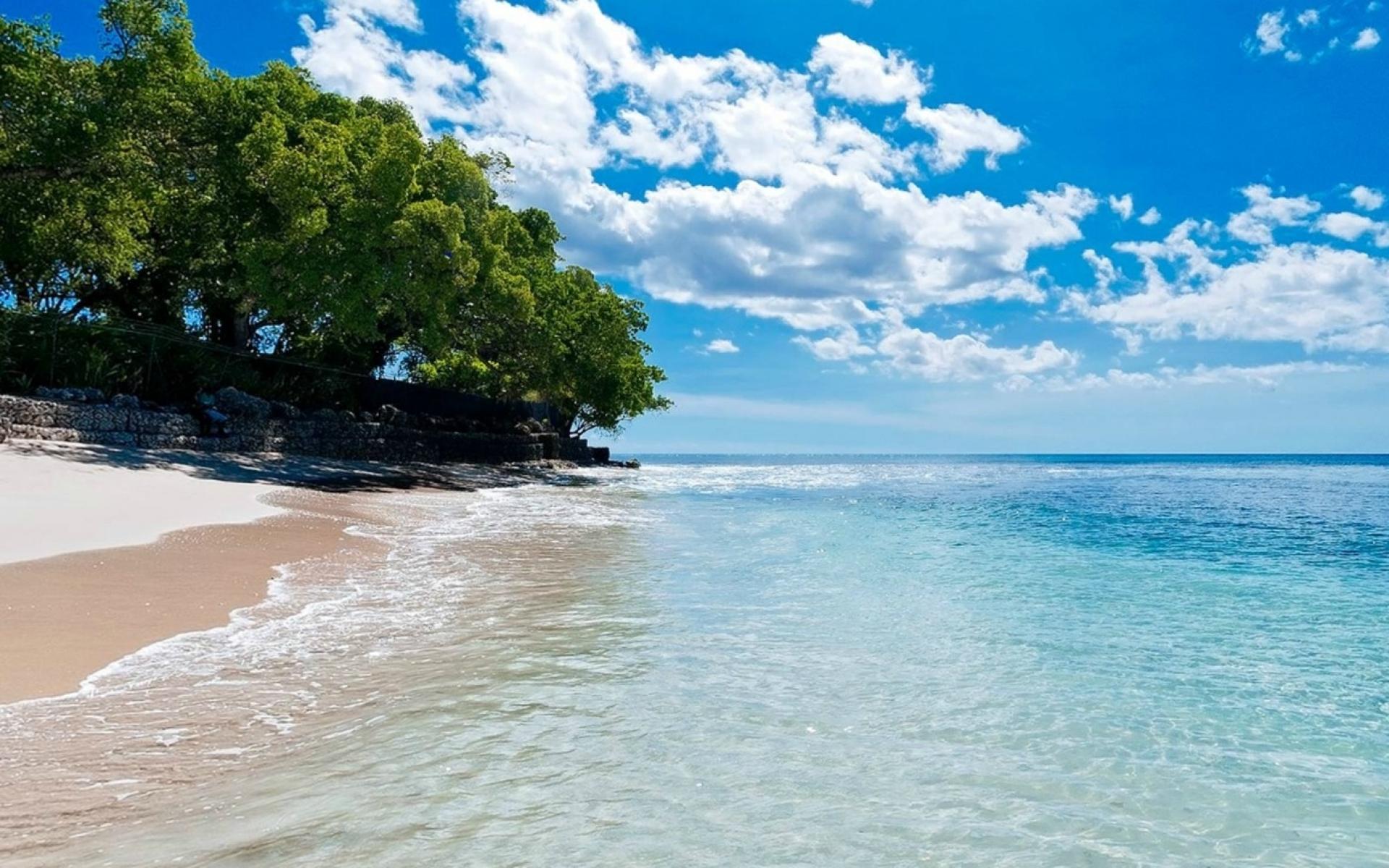 1920x1200 Caribbean Beach Turquoise Lake desktop PC and Mac wallpaper 1920x1200