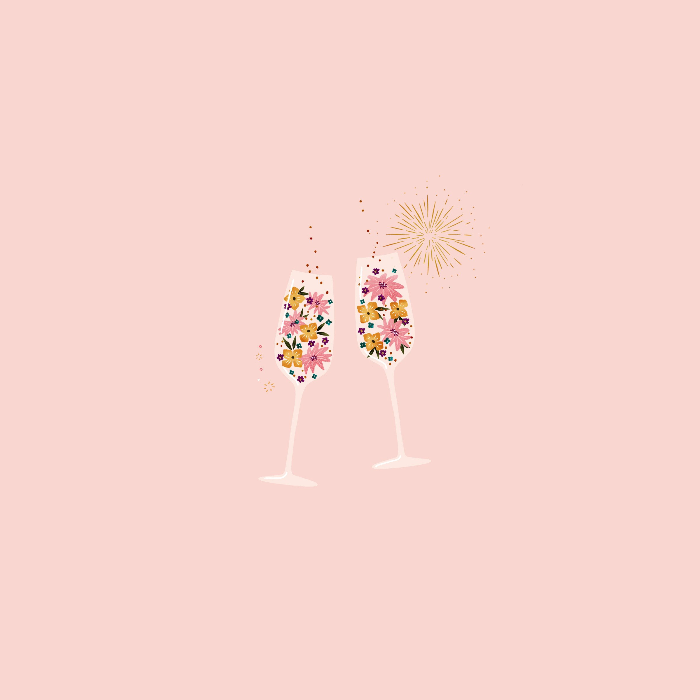 Champagne desktop phone and tablet wallpaper Make and Tell 2400x2400