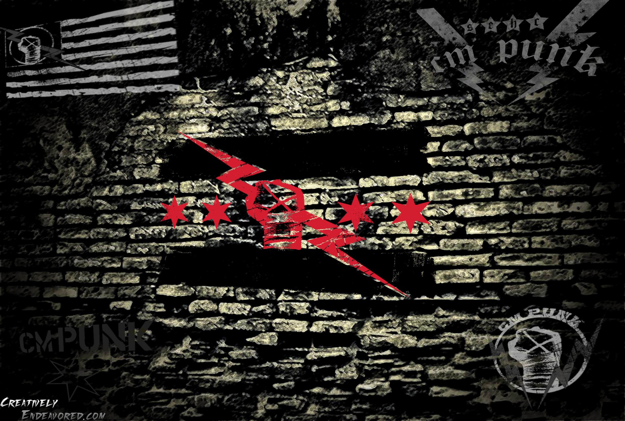 cm punk logo wallpaper cejpg 2500x1683