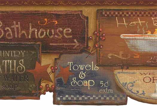 Country Baths Wallpaper Border   Wallpaper Border Wallpaper inc 525x370