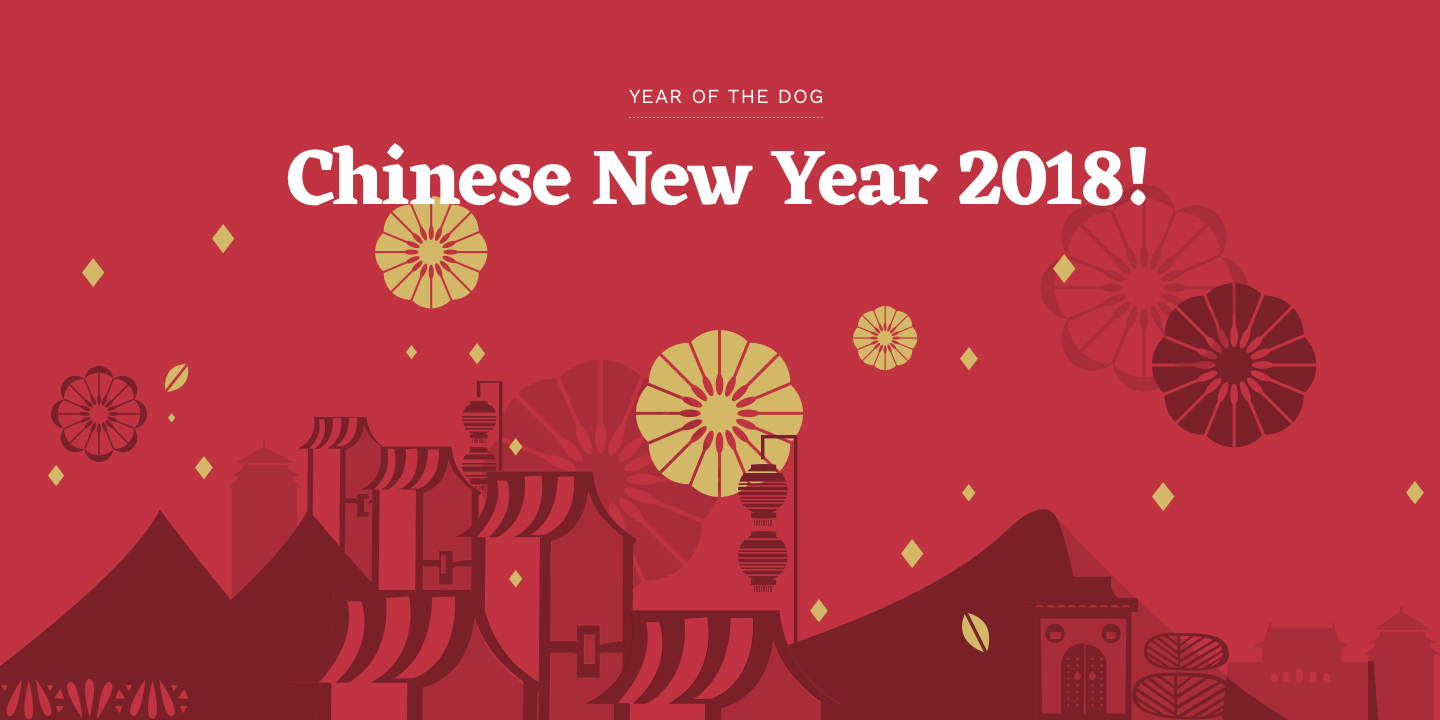 Chinese New Year 2018 Year of the Dog 1440x720